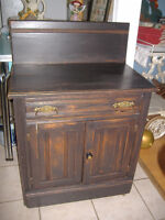 Antique painted east lake oak wash stand