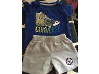 Converse shorts and tshirt age 6-9 m