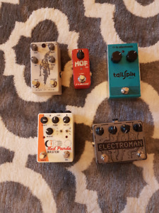 Some guitar pedals - from cheap to boutique!