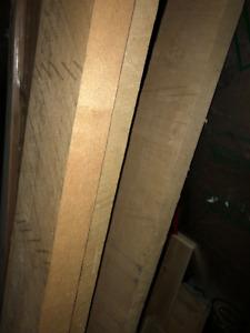 Bois brute Érable 4/4, 6/4, 8/4 de 8 pieds