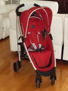 Poussette CAR bébé rouge moderne compacte