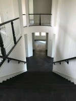 PROFESSIONALLY FINISHED STAIR  & LAMINATE/HARDWOOD FLOOR INSTALL