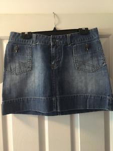 MAX- Short Jean Skirt