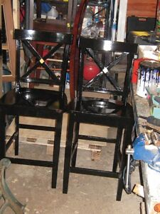 SOLID WOOD BAR STYLE CHAIRS  ---2
