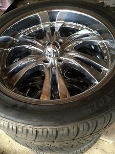 "22"" rims and tires 6 bolt Chevy"