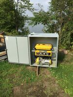 3500 gen set in weather proof steel cabinet