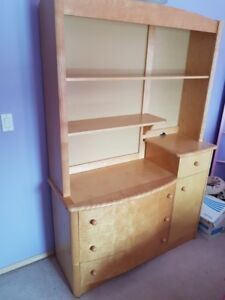 Solid Maple Change Table/Dresser with Matching Shelving Unit