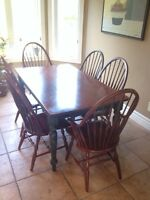 Harvest kitchen table and chairs