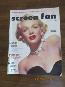 Sale! Marilyn Monroe cover picture & more in 1950's Screen Fans