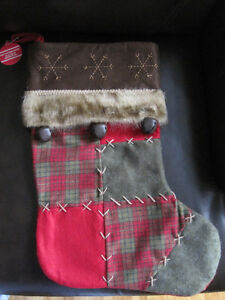 4 Luxurious Patchwork Xmas Stockings West Island Greater Montréal image 2