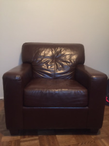 Brown Leather Chair $50 OBO