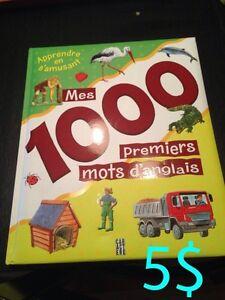 """Livre """"1000 premiers mots en anglais"""""""