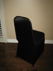 Black and White Scuba - Stretch Banquet Chair Covers for sale