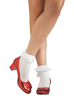 Adult Dorothy Ruby Slippers Fancy Dress Costume Wizard of Oz Shoes Ladies New