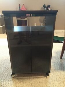 Four drawer two-door stereo stand. Strathcona County Edmonton Area image 3