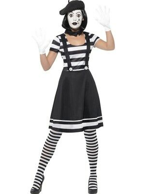 Lady Mime Artist Costume Smiffys Fancy Dress Costume