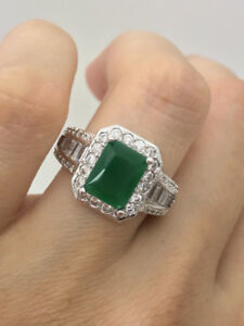 2.24 CT NATURAL  PRINCESS COLOMBIAN EMERALD RING