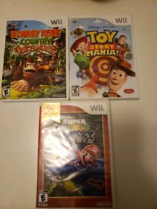 Mario Galaxy, Donkey Kong & Toy Story Wii games