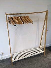 Wooden open wardrobe w/ shoe rack