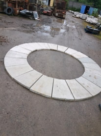 Light Grey 10' concrete garden circle - 19 pieces
