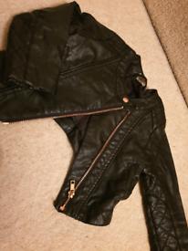Girls leather jacket 1.5 - 2yrs £6