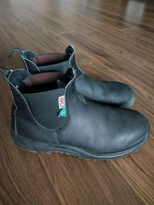 Blundstone Steel Toe Work Boots - Black, Size 9 = 10US