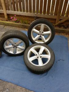 "3 Audi 17"" Alloy Rims and Tires"