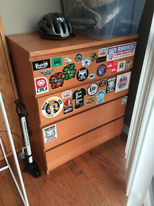 IKEA MALM DRESSER - WITH STICKERS