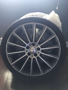 """255/35/19 contisportcontact x 5 tires and 4 x 19"""" mercedes rims"""