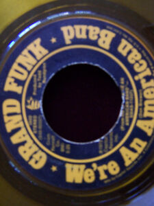 GRAND FUNK We're An American Band 45 single YELLOW  color vinyl Cambridge Kitchener Area image 3
