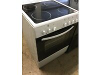 Bush white Electric Cooker full size 60cm wide,