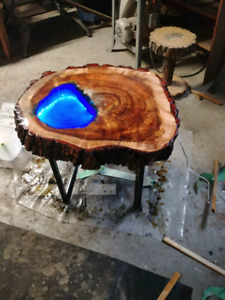 Live edge end tables and coffee tables