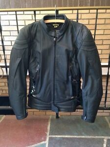 Scorpion leather bike jacket and gloves