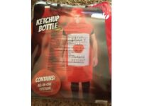 Adult size tomato ketchup fancy dress