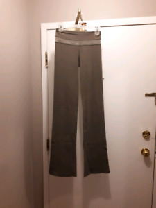 Olive green lululemon flared pant