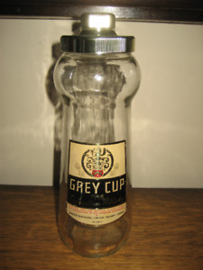 Vintage Empty Grey Cup Canadian Whisky Bottle
