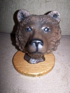 """URSUS HORRIBILIS """"GRIZZLY BEAR"""" BY DUCKS UNLIMITED ON WOOD"""