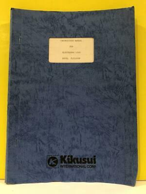 Kikusui Electronic Load Model Plz1002w Instruction Manual