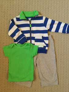 12M Boys Carter's 3-Piece Clothing Sets Bundle