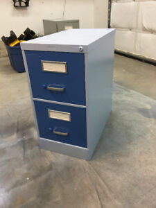 Beautiful and Blue 2 Drawer Filing Cabinet