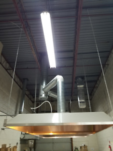 Hvac Ventilation Hood, Fan & Make up air fan