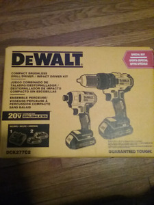 New Dewalt Compact Brushless Drill&Impact Driver kit $250 Firm