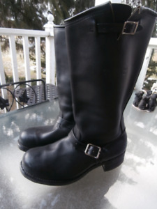 "MEN'S Black Leather ""BIKER BOOTS"""