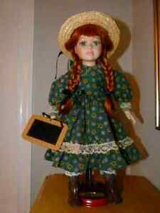 "Anne of Green Gables 16"" Porcelain Doll with Stand"