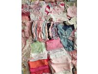 Baby girl clothes 0-3 months 100+items