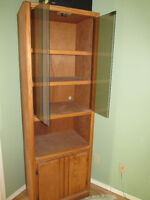 Two Oak Wall Units 6' High
