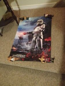 STAR WARS BATTLEFRONT 2 SIDED POSTER/TOYS/COLLECTIBLES