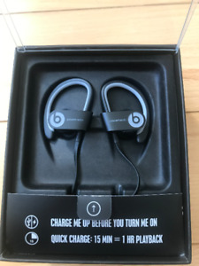 Never Used Beats by Dr. Dre Powerbeats2 Wireless Earbuds (Black)