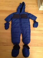Boy's one piece snowsuit