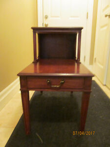 RETRO...TELEPHONE/COFFEE TABLE RED MAHOGANY